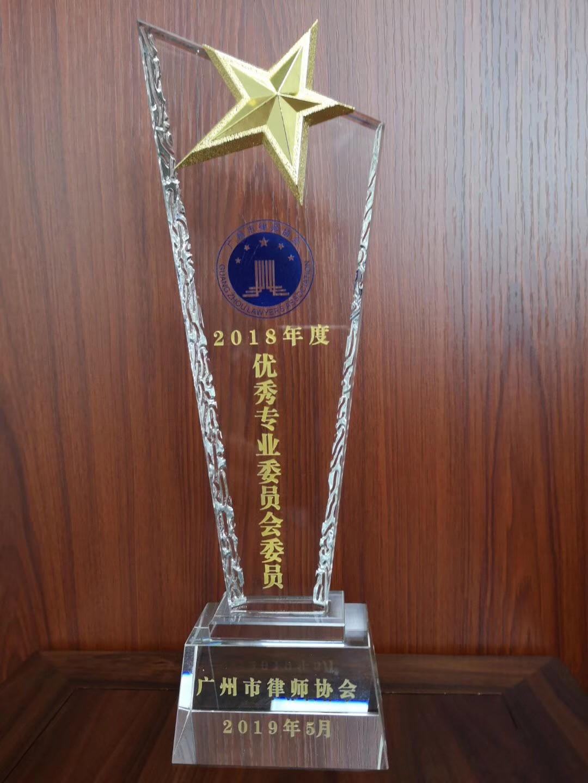 陈维崧律师被评为2018年度优秀专业委员会委员