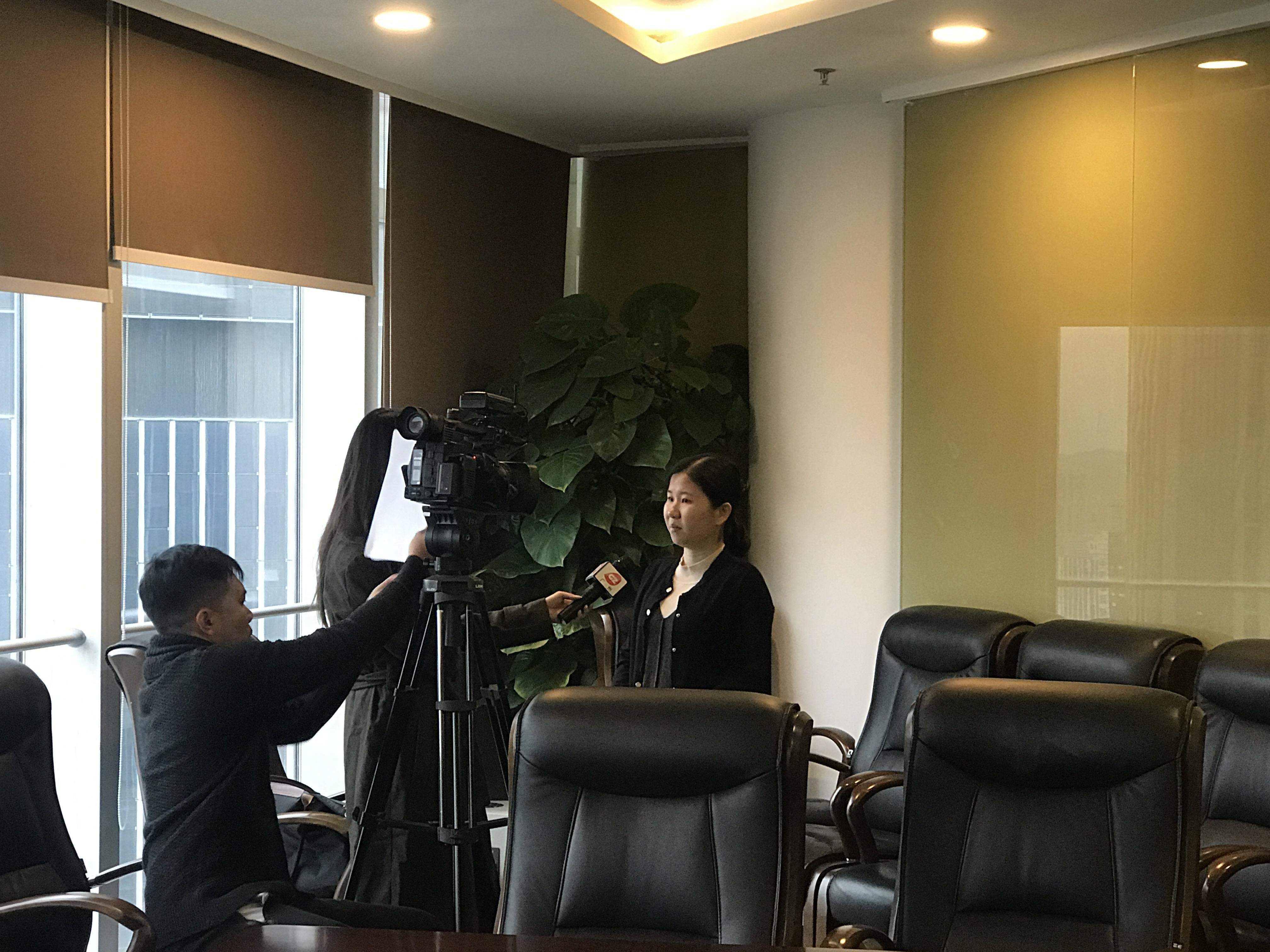 团队张晓敏律师接受《广视新闻》的采访
