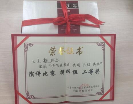 王文静律师荣誉照
