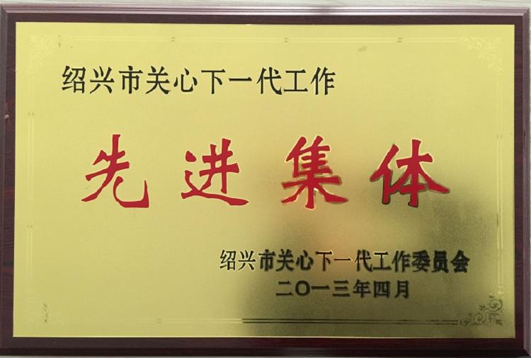 """2013年度""""绍兴市关心下一代先进集体""""称号"""