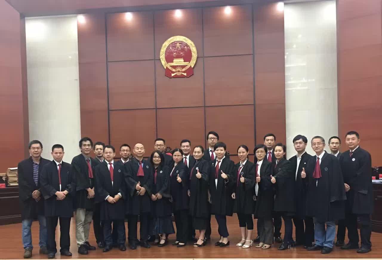 马俊哲律师办理重大疑难案件,众律师合影