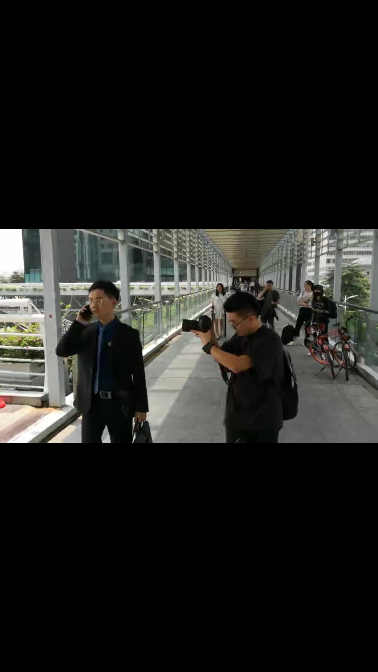 马俊哲律师拍摄宣传片过程中