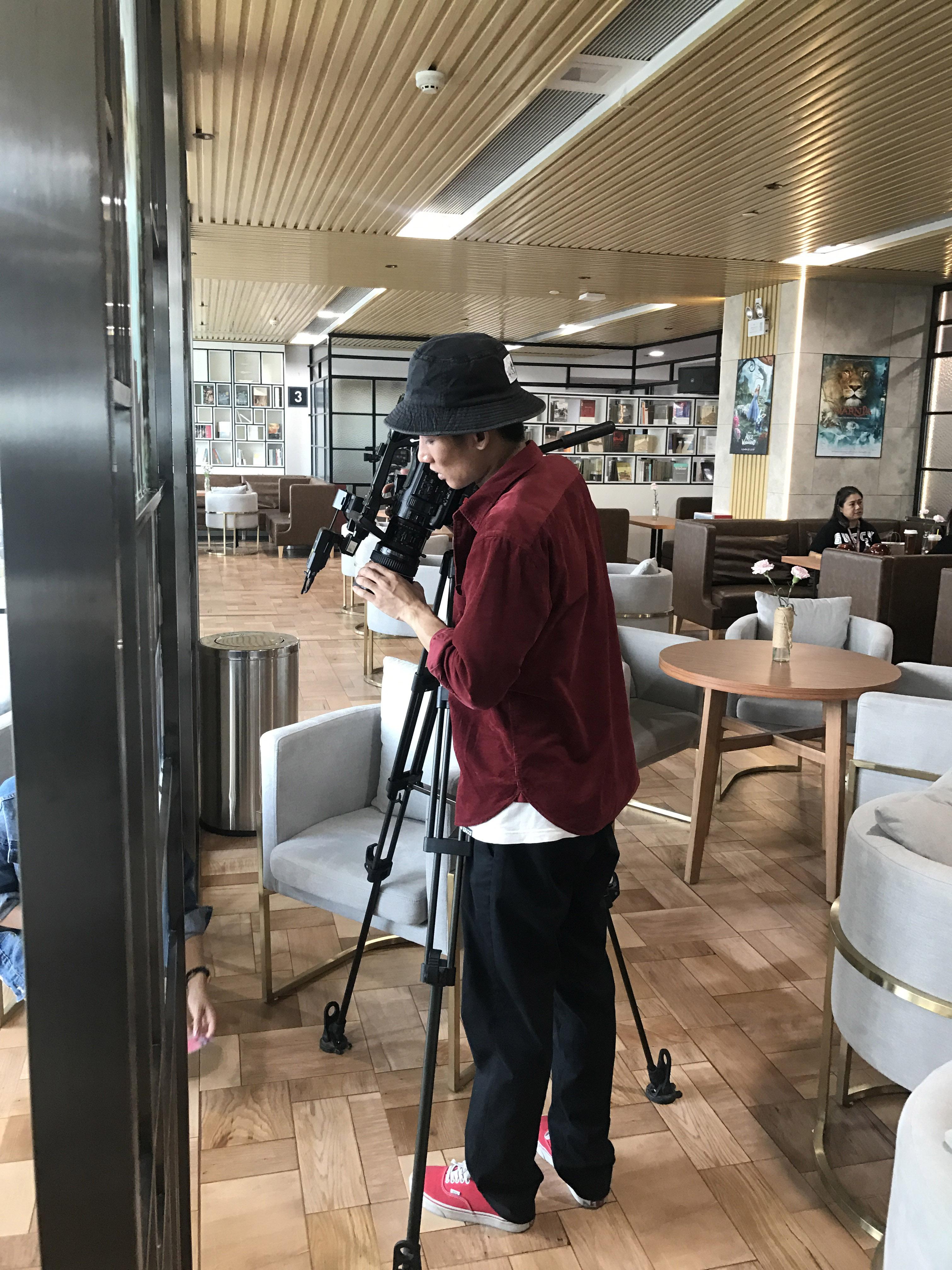 马俊哲律师在进行《律战行动》拍摄