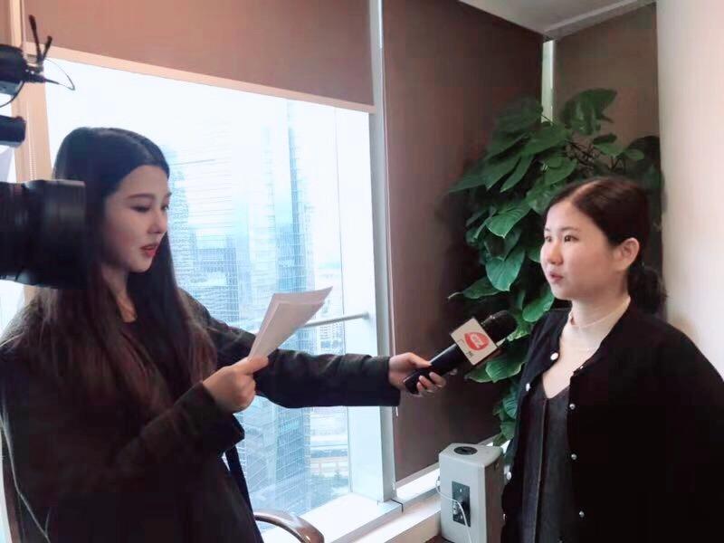 团队张晓敏律师进行《广视新闻》的采访