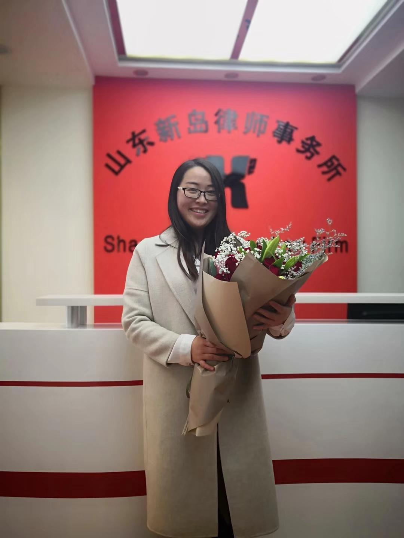 当事人为表感谢赠送花